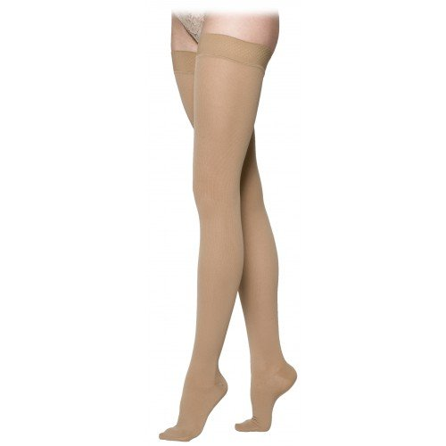 Sigvaris 230 Cotton Series Women's Thigh High Compression Stockings - 233N CLOSED TOE 30-40 mmHg