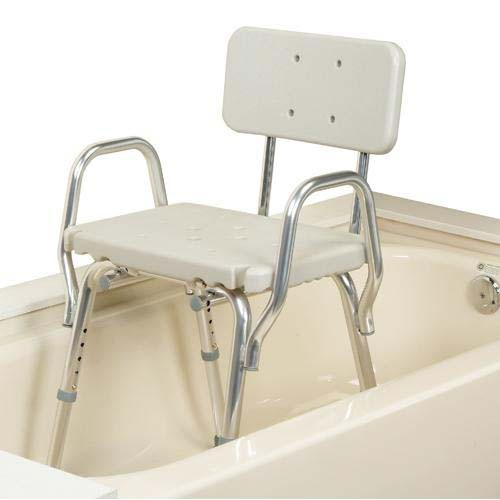 Plastic Shower Chair with Back and Arms