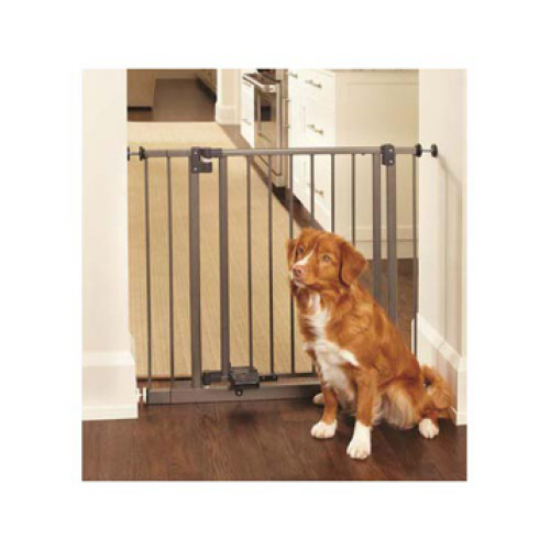 North States Slide Step and Open Wall Mounted Steel Gate