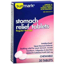 Sunmark Stomach Relief Chewable Tablets