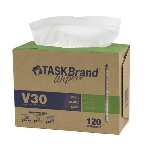 Taskbrand V30 Lw Drc, Interfold, Dispenser, White Wipers