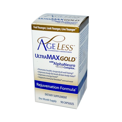 Ageless Foundation UltraMAX Gold with AlphaNeuro Complex Natural Energy Booster
