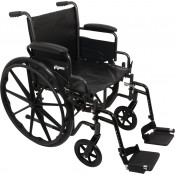 ProBasics K1/K2 Standard Wheelchair with Full-Length Arms & Elevating Legrests