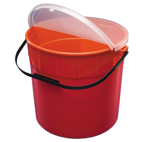 7.5 Gallon Red Sharps-A-Gator Sharps Container Round Design 31143533