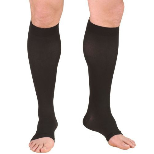 Truform Knee High Compression Stocking Soft Top Open Toe