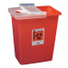 18 Gallon Red SharpSafety Sharps Container with Hinged Lid 8991