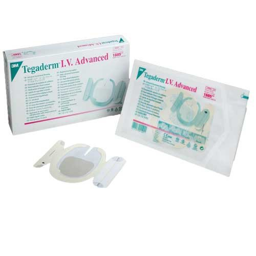 3M 1685 Tegaderm IV Advanced Transparent Dressing   3-1/2 x 4-1/2   Vitality Medical