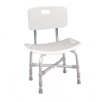 Deluxe Bariatric Shower Chair with Cross-Frame and Back Support