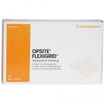 OpSite Flexigrid 4 x 4-3/4 Inch Adhesive Transparent Film Dressing 66024630