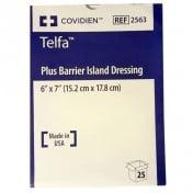TELFA PLUS 2563 | 6 x 7 Inch Island Dressing, 4 x 5 Inch Pad by Covidien