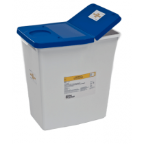 12 Gallon White SharpSafety Medical Waste Container with Gasketed Hinged Lid 8860