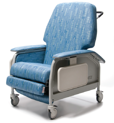 lumex extra wide clinical care geri chair recliner 666