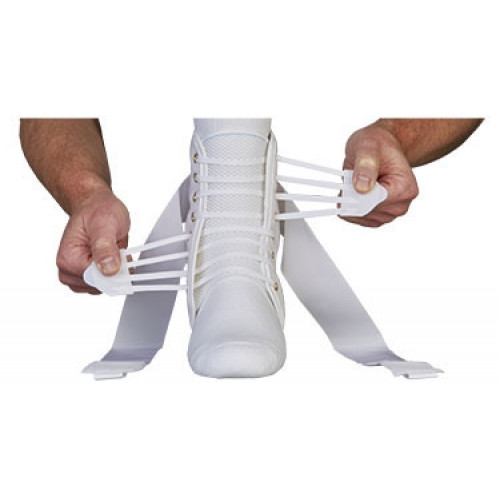 ASO White Speed Lacer Ankle Brace