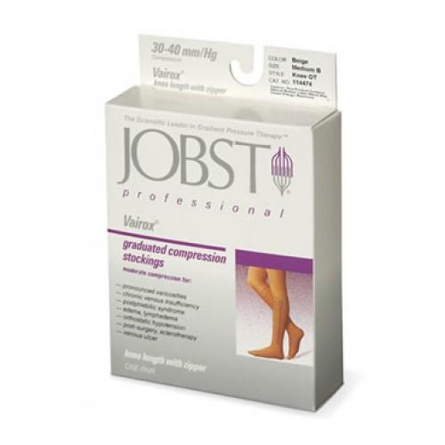 Jobst Vairox Knee High Compression Socks with Zipper OPEN TOE 30-40 mmHg