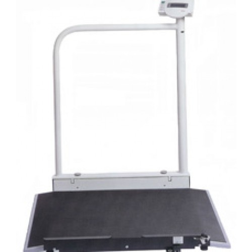 Seca Electronic Wheelchair Scale with Handrail 676