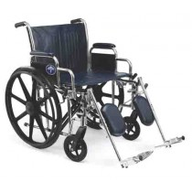 Extra-Wide Wheelchair with Removable Arms