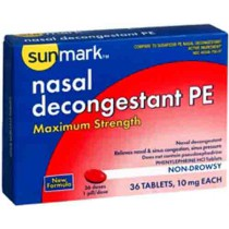 Sunmark Maximum Strength Non Drowsy Nasal Decongestant PE
