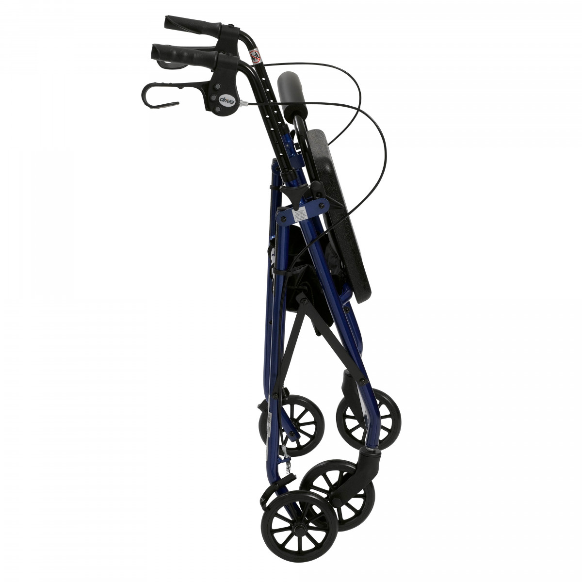 lightweight rollator with fold up and removable back support by drive 438