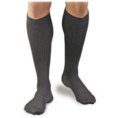 Activa Men's Microfiber Pinstripe Dress Socks 20-30 mmHg