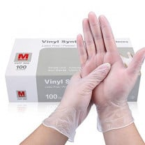 Basic Medical Clear Vinyl Exam Gloves