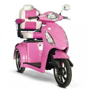 eWheels Pretty in Pink 3-Wheel Power Scooter EW-80