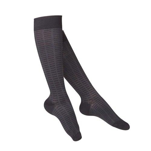 Women's Checkered Pattern Compression Socks 15-20 mmHg