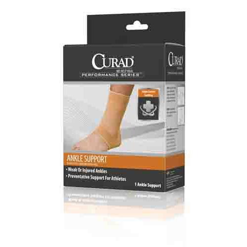 CURAD Elastic Open Heel Ankle Support