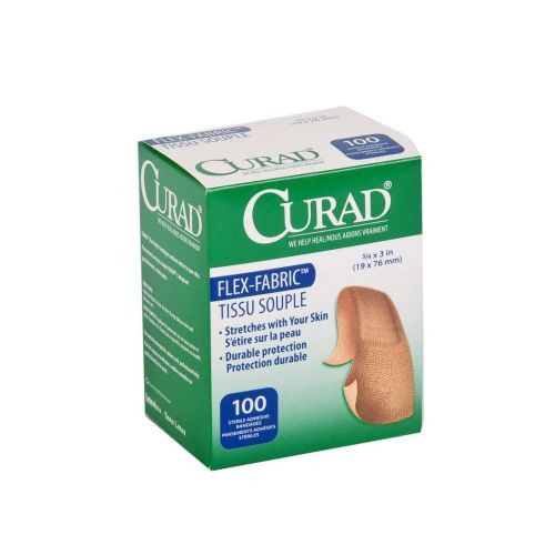 curad fabric adhesive bandages latex free sterile 860