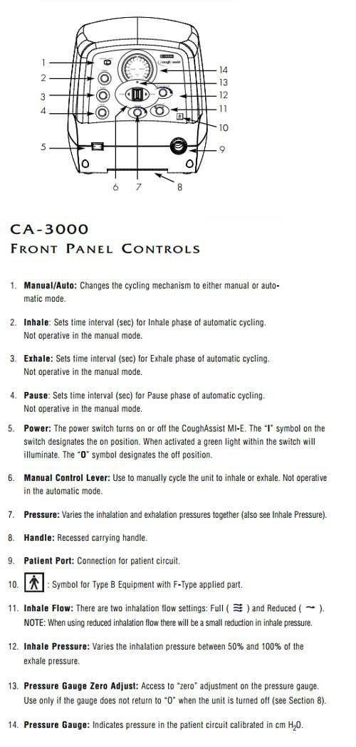 philips respironics ca3000 coughassist device emerson cough assist machine ba7