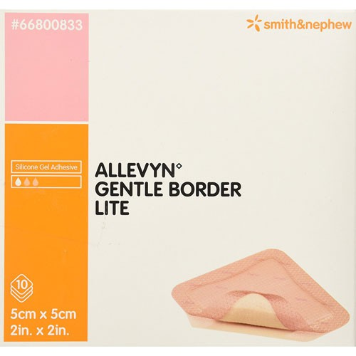 Smith and Nephew Allevyn 66800833 Gentle Border Lite