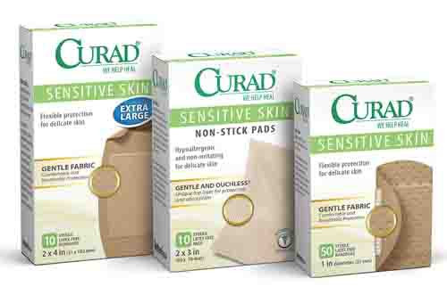 curad sensitive skin bandages latex free 610