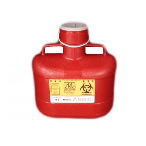 Sharps Container Bin 6.2 Quart Red