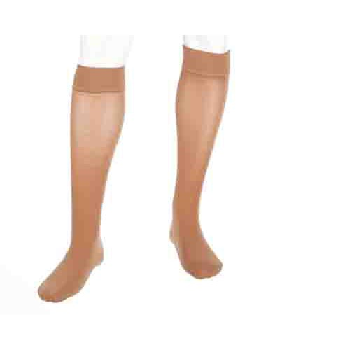 Mediven Plus Knee High Compression Stockings Extra Wide Calf w/ Silicone Top Band CLOSED TOE 20-30 mmHg
