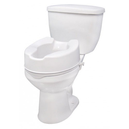 Raised Elevated Toilet Seat with Lock