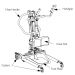 Invacare Reliant 350 Stand-Up Lift Front Diagram