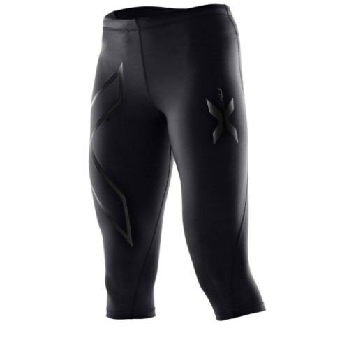 Compression Tights, 3/4 Length Black