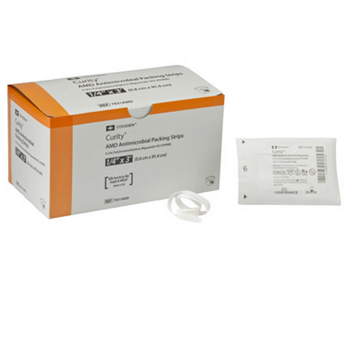 Curity AMD Antimicrobial Packing Gauze Strips PHMB