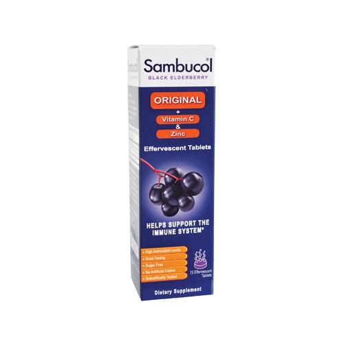 Sambucol Immune Plus Vitamin C and Zinc Effervescent Tablets