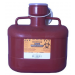 6.2 Quart Red Medi-Pak Sharps Disposal Container with Vertical Entry Lid 101-182