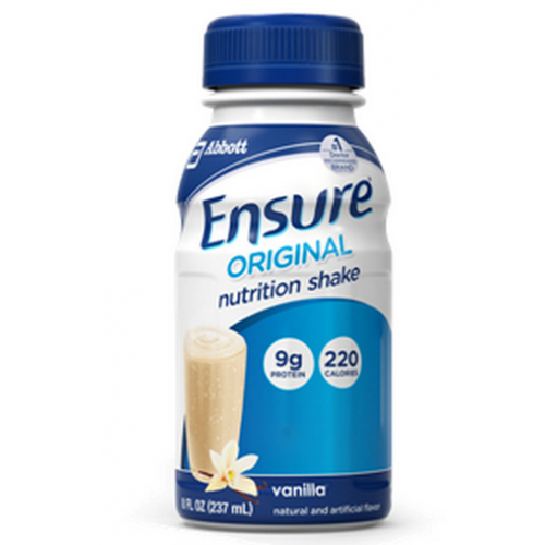 Ensure Original Nutrition Shake Vanilla 8 oz. Bottle