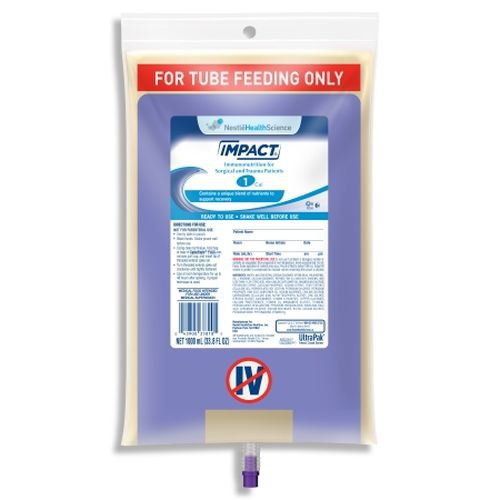 IMPACT 1 Cal Tube Feeding Formula Unflavored - 1000 mL