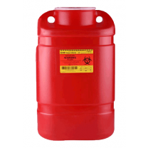 8.2 Quart Red BD Sharps Container Regular Funnel 300470