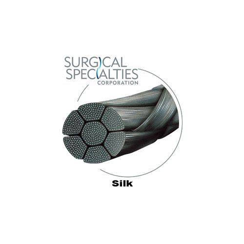 Silk Suture Black Braided Reverse Cutting