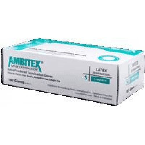 Ambitex Latex Light Powder Exam Gloves - NonSterile