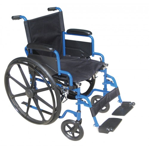 Drive Blue Streak Wheelchair with Flip Back Detachable Desk Arms