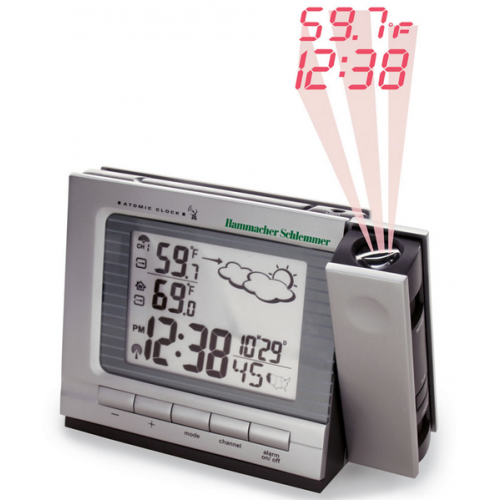 Projection Dual Alarm Clock & Weather Monitor