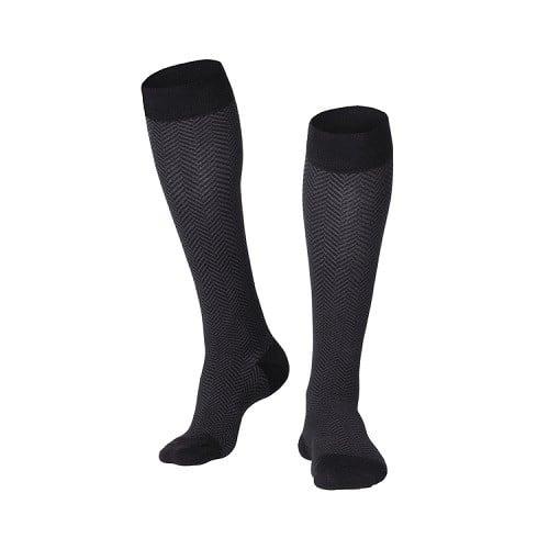 Men's Herringbone Compression Socks 15-20 MMHG
