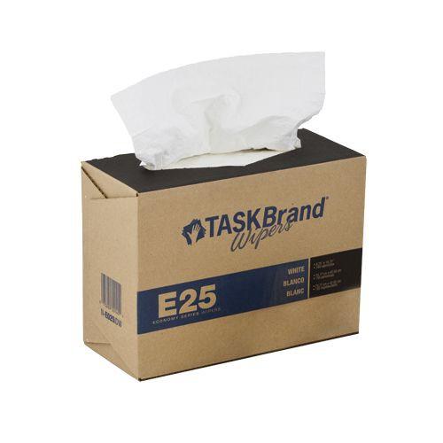 Taskbrand E25 Wiper Scrim, Interfold, Dispenser, White Wipers