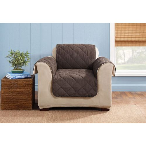 Reversible Furniture Slipcover Suede and Sherpa