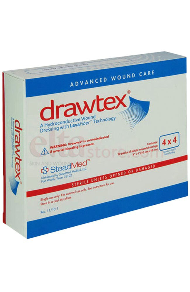 Drawtex Non Adherent Dressing Wlevafiber 00300 00301 00306